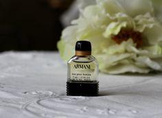 """Vintage 1980s Perfume for man """"Armani Eau Pour Homme"""" by Armani Eau de Toilette 5ml Splash Mini Travel size Bottle Collectible by RamonaStore on Etsy"""