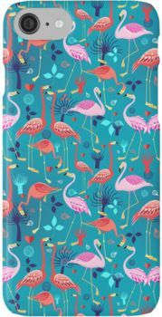 beautiful pattern lovers flamingo iPhone 7 Cases