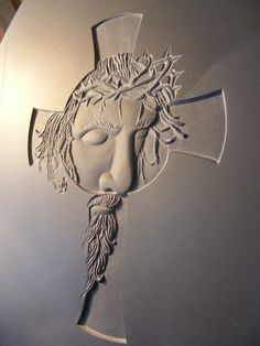 Relief carving Jesus-Cross Design by Michael Hassler Carved by Simon Huber