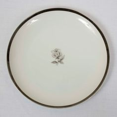 Imperial Wentworth Queen Anne 8 Plate - Listing is for ONE plate. - Silver edges show minimal wear.
