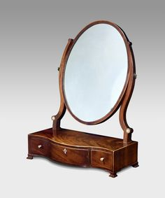 George III mahogany toilet mirror