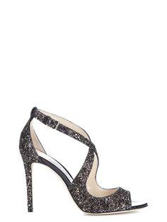 JIMMY CHOO | Jimmy Choo Jimmy Choo Emily 100 Glitter Sandals #Shoes #Sandals #JIMMY CHOO