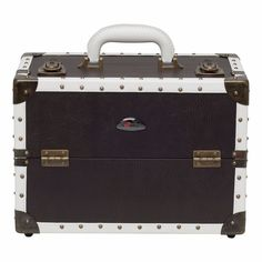 0414c319d Makeup Train Case Large Brown Faux Leather Cosmetic Storage Organizer  Sunrise #Sunrise