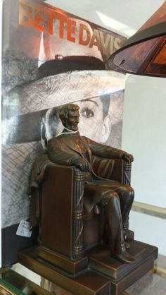 Iron Abraham Lincoln bookends