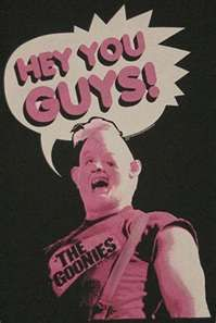 i love the goonies so much. whenever people say baby ruth i always think of the goonies 80s Movies, Great Movies, Movie Tv, Awesome Movies, Movie Cars, Awesome Stuff, Os Goonies, Hey You Guys Goonies, Movie Posters