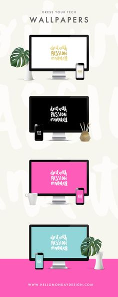 Free Wallpaper Downloads   Instant Download Wallpapers   Girl Boss   Boss Babe   2017 desktop wallpapers   girl boss wallpapers   2017 goals   2017 resolutions   Inspirational Quote   Watercolor lette (Tech Office Desktop Wallpapers)
