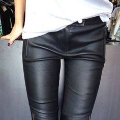 We do like our leather. It graces sleek machines and hard bodies equally.