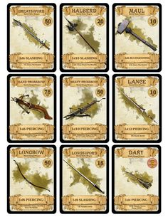 dm-paul-weber: Weapon Cards for...