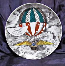 1955 piero fornasetti mongolfiere hot air balloon plate #3