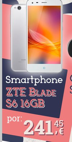 #Smartphone ZTE Blade S6 16GB Plata.  https://es.pinterest.com/opirata/promociones-boletines/