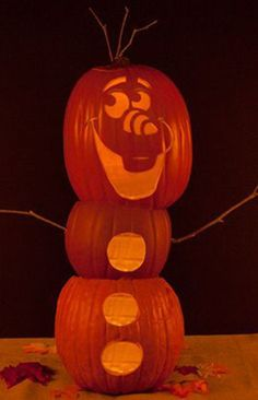 Olaf Pumpkin-Carving Template | Spoonful