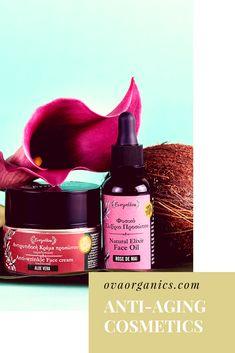 #naturalskincare #naturalcosmetics #organic #organiccosmetics #ovaorganics Face Cream For Wrinkles, Cream Roses, Face Oil, Natural Cosmetics, Anti Wrinkle, Natural Skin Care, Aloe, Anti Aging, Lipstick