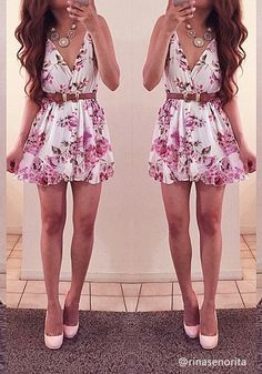 What is really better than a floral romper on a hot summer day?
