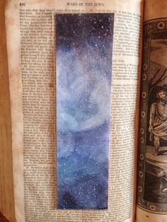Art Bookmark Watercolor bookmark Galaxy Bookmark by AsmothDaeva