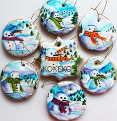 Galletas Navidad 2014 - Muñecos de Nieve Christmas Cookies 2014 - Snowmen http://www.sweetkokeko.com