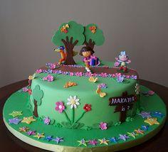 Dora Cake by cakespace - Beth (Chantilly Cake Designs), via Flickr