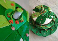 Gâteau sur le thème Rainforest  Découvrez comment le réaliser vous-même avec un tutoriel en images sur mon blog Les délices d'Anaïs.  https://lesdelicesdanais.net/tutoriels/rainforest/ #cakedesign #tutoriel #gateau #patisserie #pateasucre #gâteau #anniversaire #birthday #birthdaycake #cake #grenouille #frog #rainforest