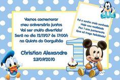 Convite digital personalizado Baby Disney 022