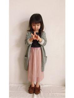 今月最後にラブ&ピース 参加させて下さい(*☻-☻*) またまたお気に入りのスカートで♡ 来年年少さ