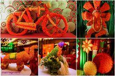 marigold decor for Mehendi