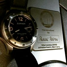 Zuriner Swiss watch with Mercedes Benz CLK55 AMG powerful V8 made by hand by Pascal Petrou in Affalterbach 🚗⌚🙌🙌 #uigwatch #zuriner #zurinerwatch #zurinerswiss #largeswisswatch #amg #divingwatch #dive #diving #swisswatch #mercedesbenz #watchporn #swiss #switzerland #mercedes #motor #mensstyle #germancars #mensfashion #menstuff #menstyleguide #germancar #urhen #armbanduhr #montresuisse #montre #montredeplongee #affalterbach #clk55 #madebyhand