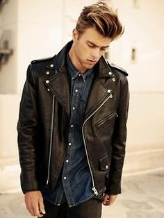 Great Leather Jacket #Fashion #Style