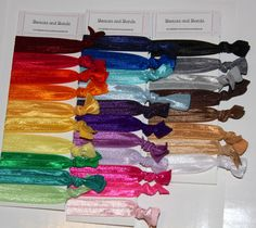 You choose 20  Elastic Hair Ties  Pony Tail by Beauxsandbands, $11.50
