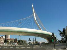 "Modern Jerusalem - Jerusalem Chords Bridge (""Gesher Ha'Meitarim) by Santiago Calatrava"