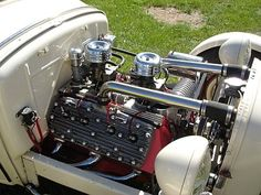 Modified Ford Flathead V8 in a 1931 Ford Model A Hot Rod.