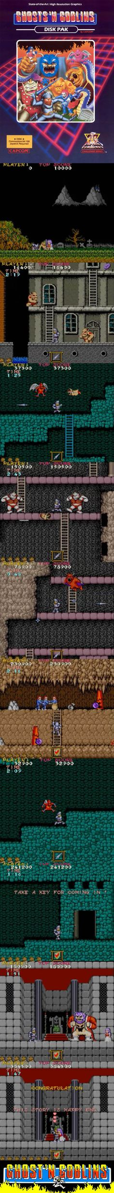 Ghosts'n Goblins is a very difficult arcade game that fits well on home consoles. Pc Games, Arcade Games, Games Memes, Gamer News, Game Gui, Classic Video Games, Sega Dreamcast, Retro Gamer, School Games
