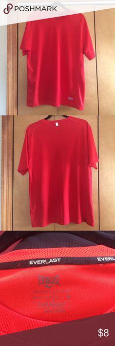 Everlast Men's Workout Shirt Reddish/orange men's workout shirt, size large. 100% polyester. Worn 2-3x. Everlast Shirts