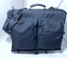 0c3509590d00 TUMI Tri-Fold Carry On Garment Bag Suits Bag Black Ballistic Nylon Retail   395