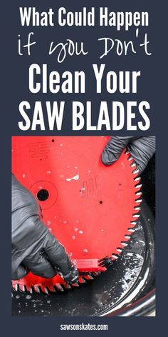 This is crazy! I cleaned the saw blades on my miter saw and table saw after reading this article. The cleaner removed all of the gunk from the teeth of the blade! I thought I needed to buy new blades, but after cleaning, they slice through wood like a hot Learn Woodworking, Woodworking Patterns, Woodworking Crafts, Woodworking Plans, Woodworking Furniture, Woodworking Basics, Woodworking Workshop, Popular Woodworking, Woodworking Jigsaw