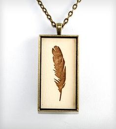 Feather Pendant Necklace | Falling in love with feathers.