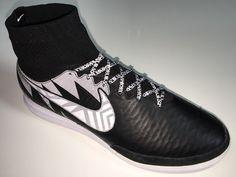 SR4U White Premium Soccer Laces on Nike MagistaX Proximo Street