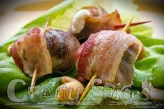 Simple appetizer or snack, Cream Cheese Stuffed Prunes Wrapped in Bacon Recipes Appetizers And Snacks, Yummy Appetizers, Types Of Bacon, Good Food, Yummy Food, Yummy Recipes, Cocktail Weenies, Cheese Wrap, Paleo Bacon