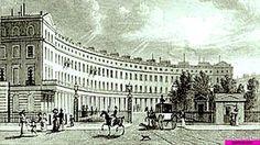 1812 Row Houses in Park Crescent, London, England, in Regent's Park built by John Nash.  suzilove.com