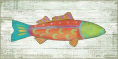 Funky Fish 1 Art by Suzanne Nicoll