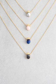 Lovoda - Pineapple Stone Necklace, $20.00 (https://www.lovoda.com/pineapple-stone-necklace/)