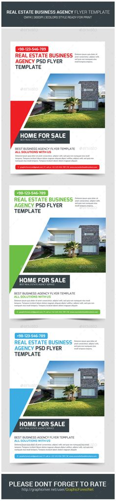 #Real #Estate Agency Business Flyer Template - Corporate #Flyers Download here: https://graphicriver.net/item/real-estate-agency-business-flyer-template/11394487?ref=alena994
