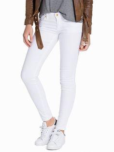 Denim Eu Skinny Jeans - Michael Michael Kors - White - Jeans - Kläder - Kvinna - Nelly.com