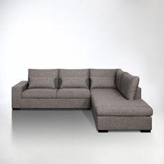 Canapé d\'angle côté Droit design 5 places avec méridienne MATHIS en ...