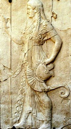 Relief of Minerva: Herculaneum. (She was never born. She sprang fully formed from the mind of Jupiter).