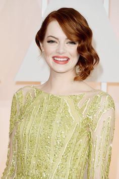 Emma Stone's Glamorous Oscars Hair Will Make You Want to Get a Lob: Styling short hair can seem like a daunting task: buns and ponytails require a bit more length.