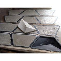 Concrete Crafts, Concrete Tiles, Brick Design, Concrete Design, Fake Brick Wall, 3d Wanddekor, Origami Wall Art, Exterior Wall Cladding, Wall Tiles Design