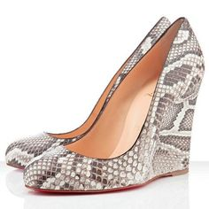 Find For Sale Christian Louboutin Ron Ron Zeppa Wedges Roccia online or in Footlocker. Shop Top Brands and the latest styles For Sale Christian Louboutin Ron Ron Zeppa Wedges Roccia at Footlocker. Red Heels, High Heels, Shoes Heels, Shoe Wedges, Shoes Uk, Top Shoes, Dress Shoes, Python, Louboutin Wedges
