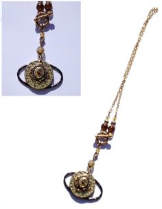 Steampunk Brown and Gold necklace by FrostdCreations on Etsy, $19.99
