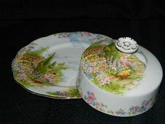 Vintage Royal Albert Kentish Rockery Covered Butter Dish England 1930 1950'S | eBay