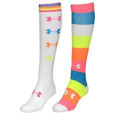 size 40 3e7f6 bff5c Under Armour Recur OTC 2 Pack Socks - Women s - Training - Accessories -  White Cerise