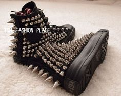 Studed Converse shoes converse all star studed by Tomfashionplace, $142.00